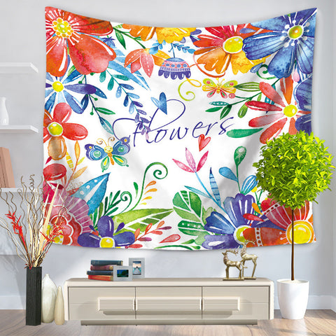 Tapestry Fresh Colour Flower Hanging, Sandy Beach Sit Carpet GT1099