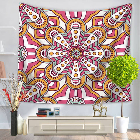 Tapestry Datura Decorative Pattern Hanging, Sandy Beach A Piece of Cloth Sit Carpet GT1028