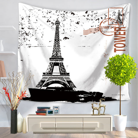Egypt Iron Tower Home Tapestry Hanging, Sandy Beach a Piece of Cloth Sit Carpet GT1009