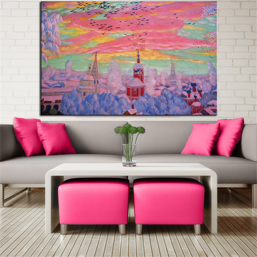 Large sizes Wall Art  Decor Boris kustodiev carnevale original oil Painting Print for wall picture no frame wall painting