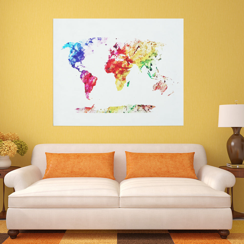 World Map Canvas Wall Pictures for Living Room Art Print Poster Wall Sticker Modern Minimalist Wall Painting