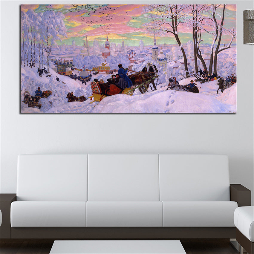 Large Size Original Art Print on Canvas,  Oil Painting Print for Wall Decor