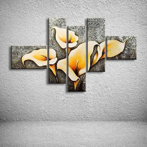 oil paintings hand painted painting on canvas home decoration Modern Flower oil Painting wall FL5-034