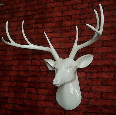 Light Black Deer Head Wall Hanging Home Furnishing Club Ktv Corridor Box Background Soft Decoration sculpture