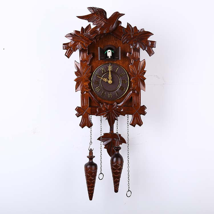 6022 classic bird cuckoo clock handmade wood sculpture wall clock