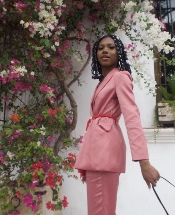Get Choosy Pink Suit Beyoncé Inspired