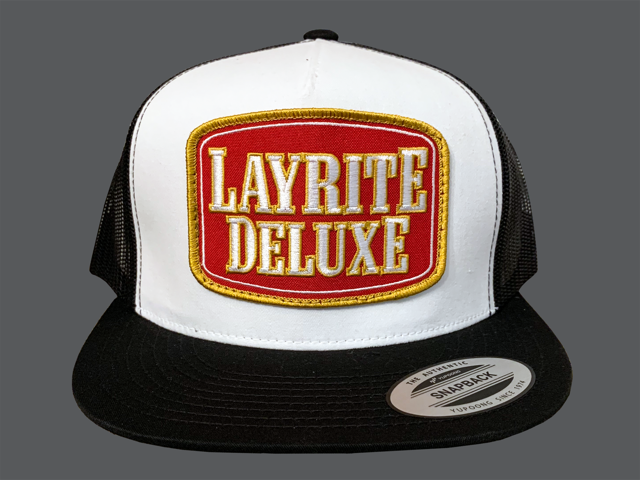 Layrite Stacked Trucker Hat White/Black