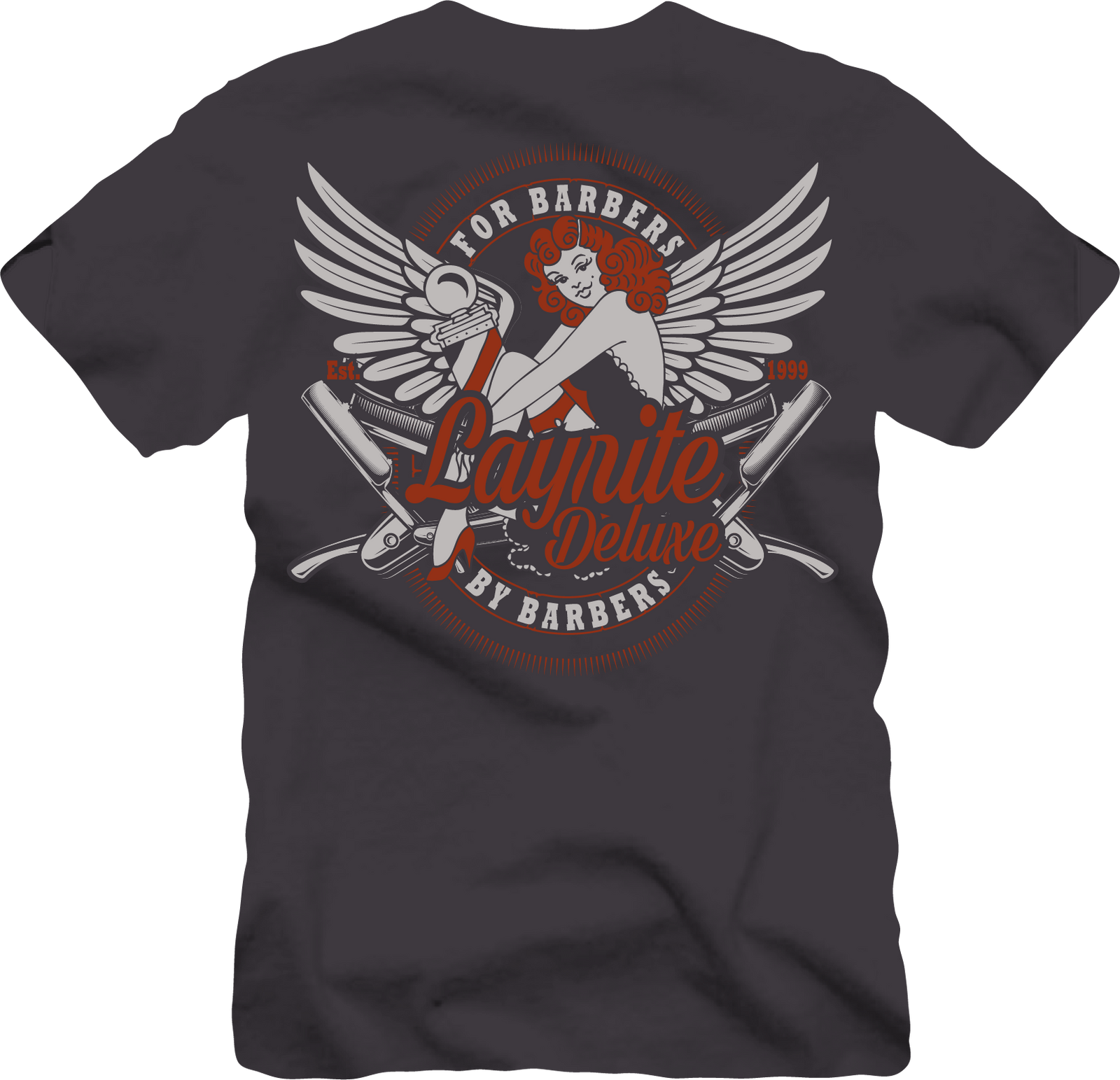 Layrite Wings Dark Grey TEE