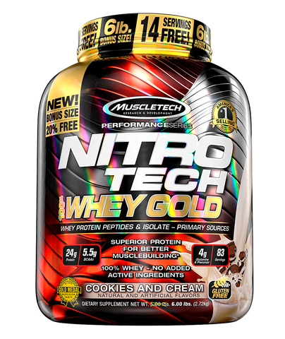 Nitrotech Gold Whey - 5.5 Lbs.