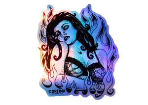 015 Fire Woman Sticker