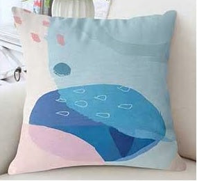Abstract Grafitti Print Cushion