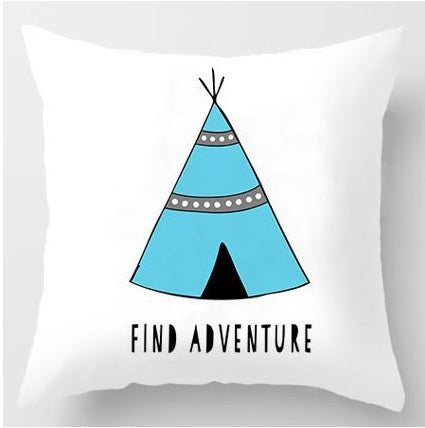 Find Adventure Print Cushion