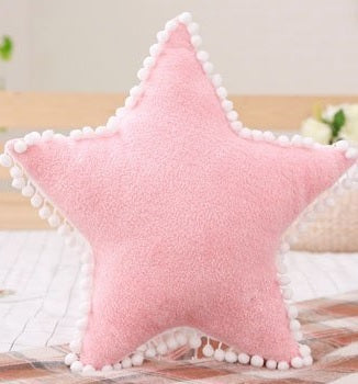 Star Cushion with Pom Pom
