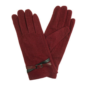 Ladies Faux Leather Pattern Gloves