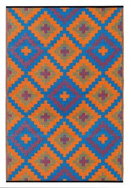 Saman Blue And Orange Outdoor Rug