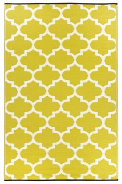 Tangier Celery And White Outdoor Rug