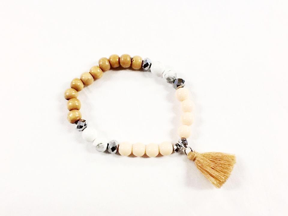 Timber Tassel Beaded Bracelet