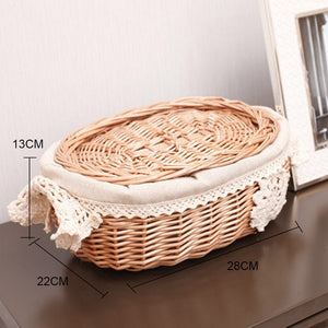 Rattan Storage Basket With Lid