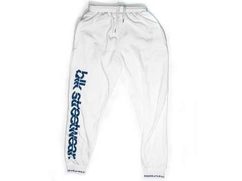 NOS GANG TRACKSUIT PANTS | WHT