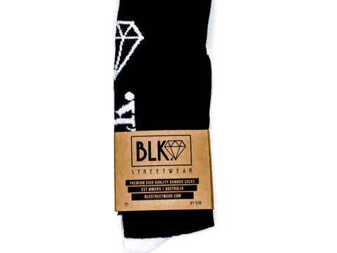 DIAMOND SOCKS | BLK