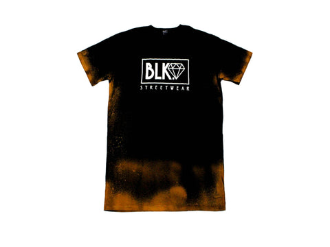 WHITE DIAMOND TALL TEE BLEACH | BLK