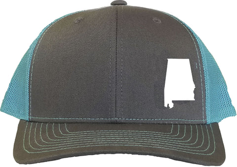 Alabama Snapback Hat - Grey/Aqua