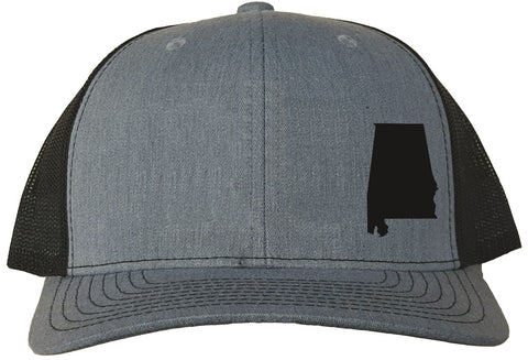 Alabama Snapback Hat - Grey/Black