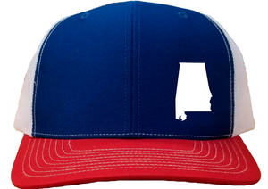 Alabama Snapback Hat - Royal/White/Red