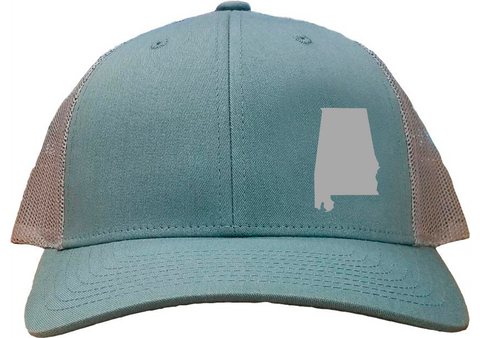 Alabama Snapback Hat - Smoke Blue/Aluminum
