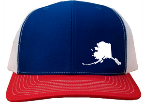 Alaska Snapback Hat - Royal/White/Red