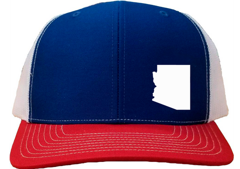 Arizona Snapback Hat - Royal/White/Red