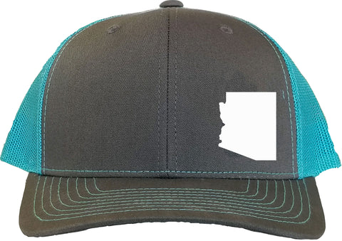 Arizona Snapback Hat - Grey/Aqua