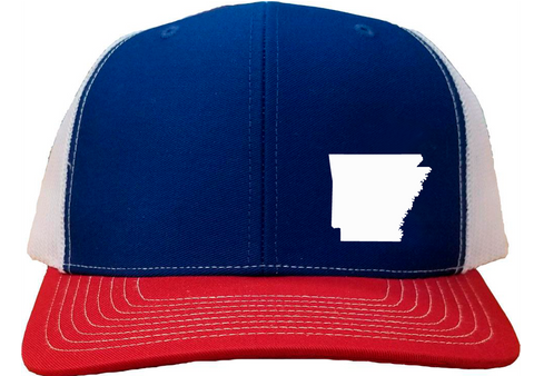 Arkansas Snapback Hat - Royal/White/Red