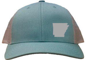 Arkansas Snapback Hat - Smoke Blue/Aluminum
