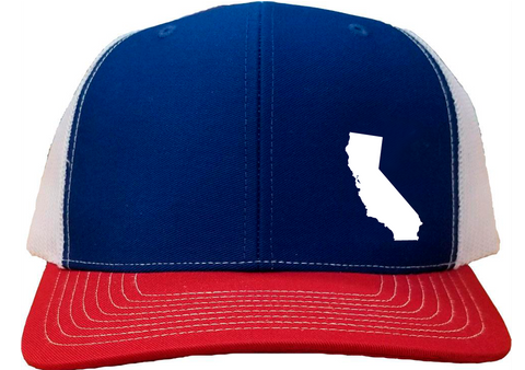 California Snapback Hat - Royal/White/Red