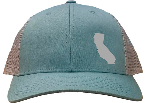 California Snapback Hat - Smoke Blue/Aluminum