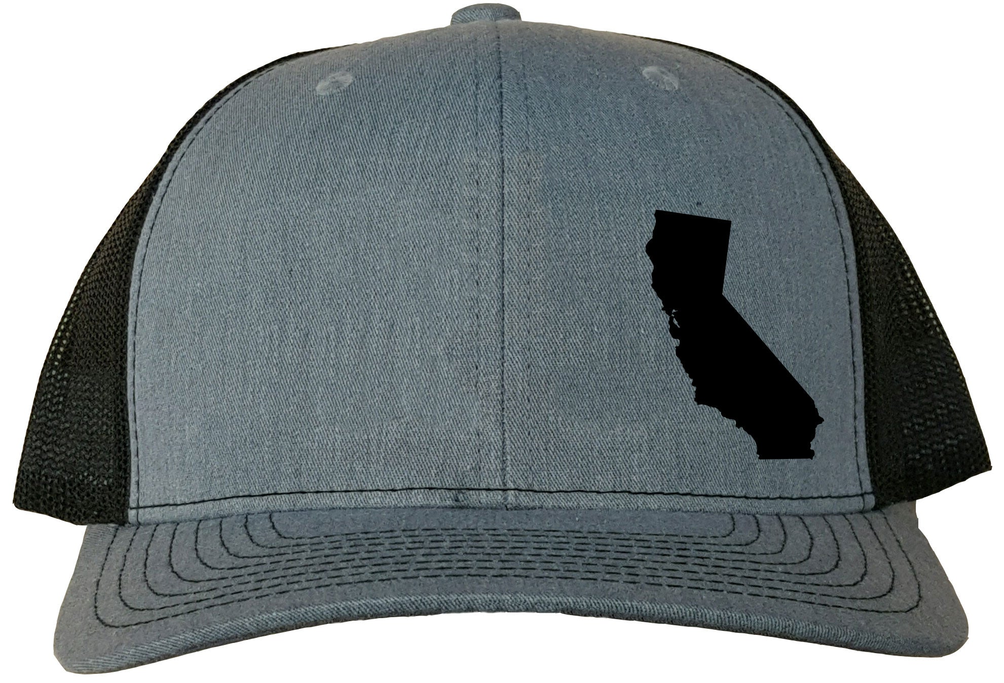 California Snapback Hat - Grey/Black