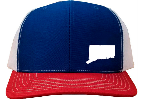 Connecticut Snapback Hat - Royal/White/Red