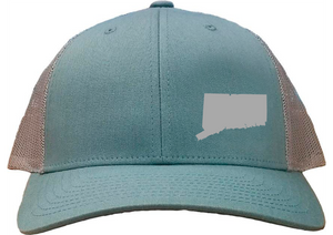 Connecticut Snapback Hat - Smoke Blue/Aluminum