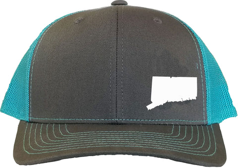 Connecticut Snapback Hat - Grey/Aqua