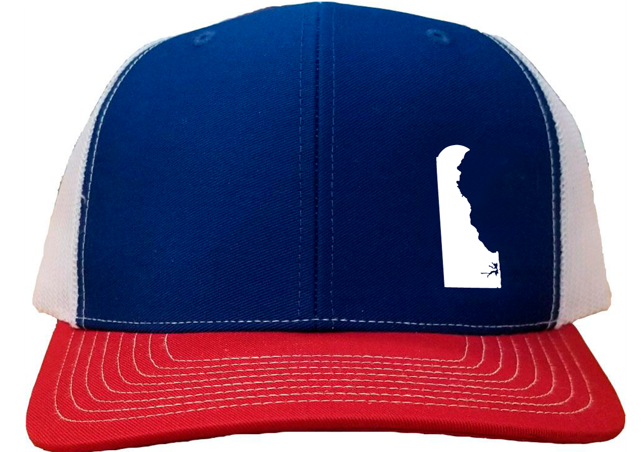 Delaware Snapback Hat - Royal/White/Red