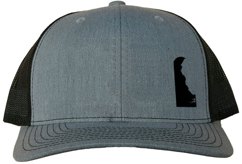 Delaware Snapback Hat - Grey/Black