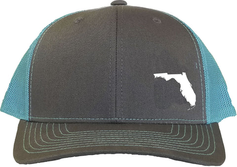 Florida Snapback Hat - Grey/Aqua