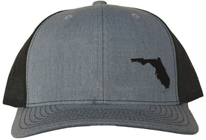 Florida Snapback Hat - Grey/Black