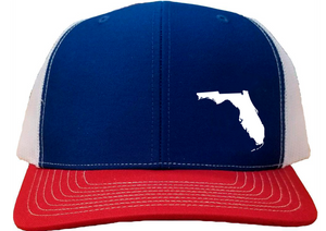 Florida Snapback Hat - Royal/White/Red