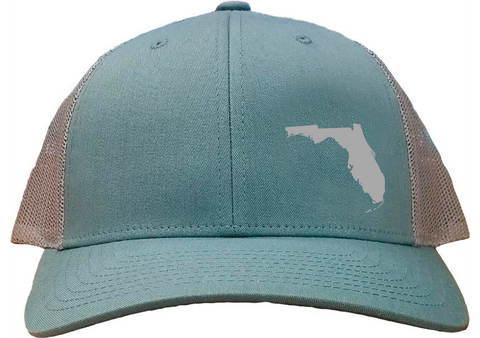Florida Snapback Hat - Smoke Blue/Aluminum