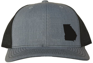 Georgia Snapback Hat - Grey/Black