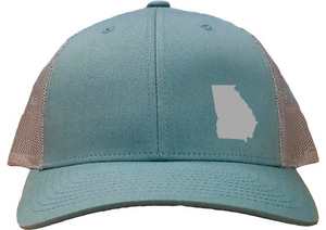 Georgia Snapback Hat - Smoke Blue/Aluminum