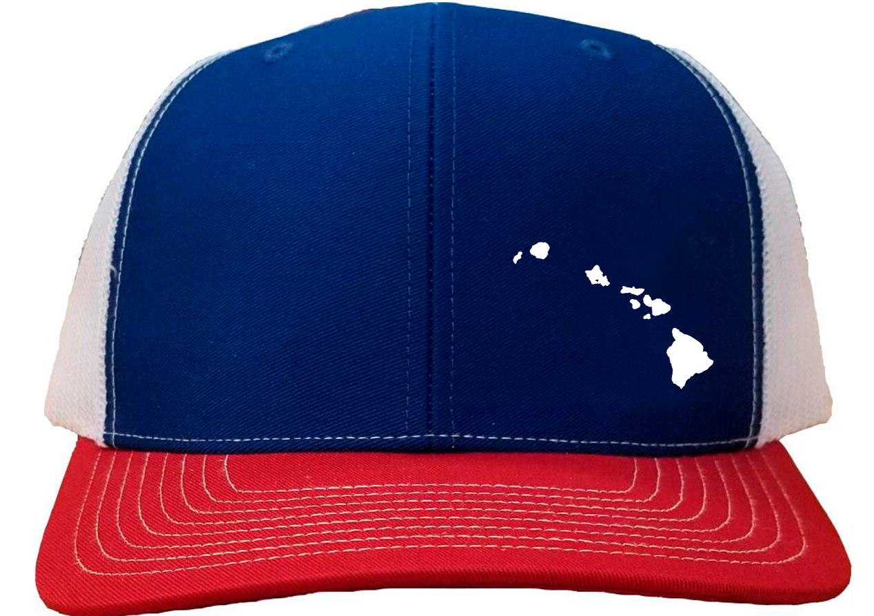 Hawaii Snapback Hat - Royal/White/Red