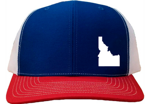 Idaho Snapback Hat - Royal/White/Red